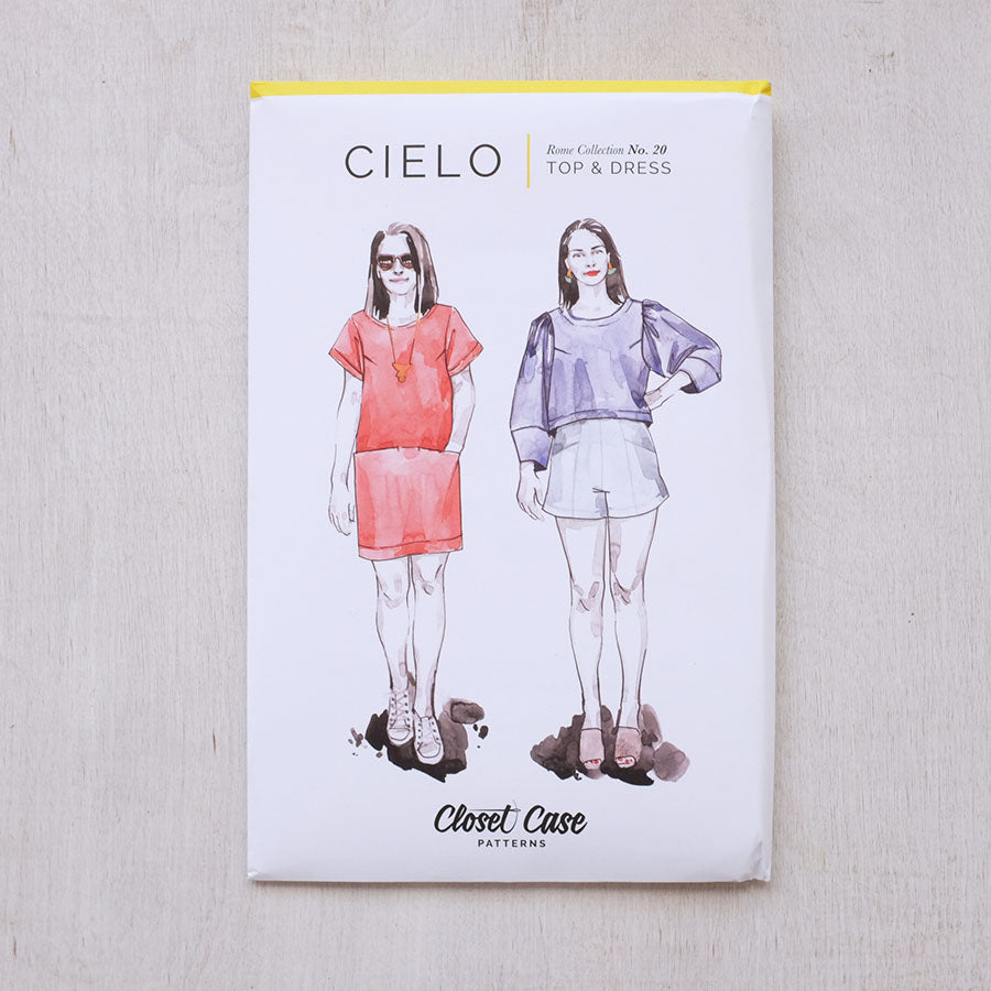 Cielo Top + Dress Pattern from Closet Case Patterns - NEW!