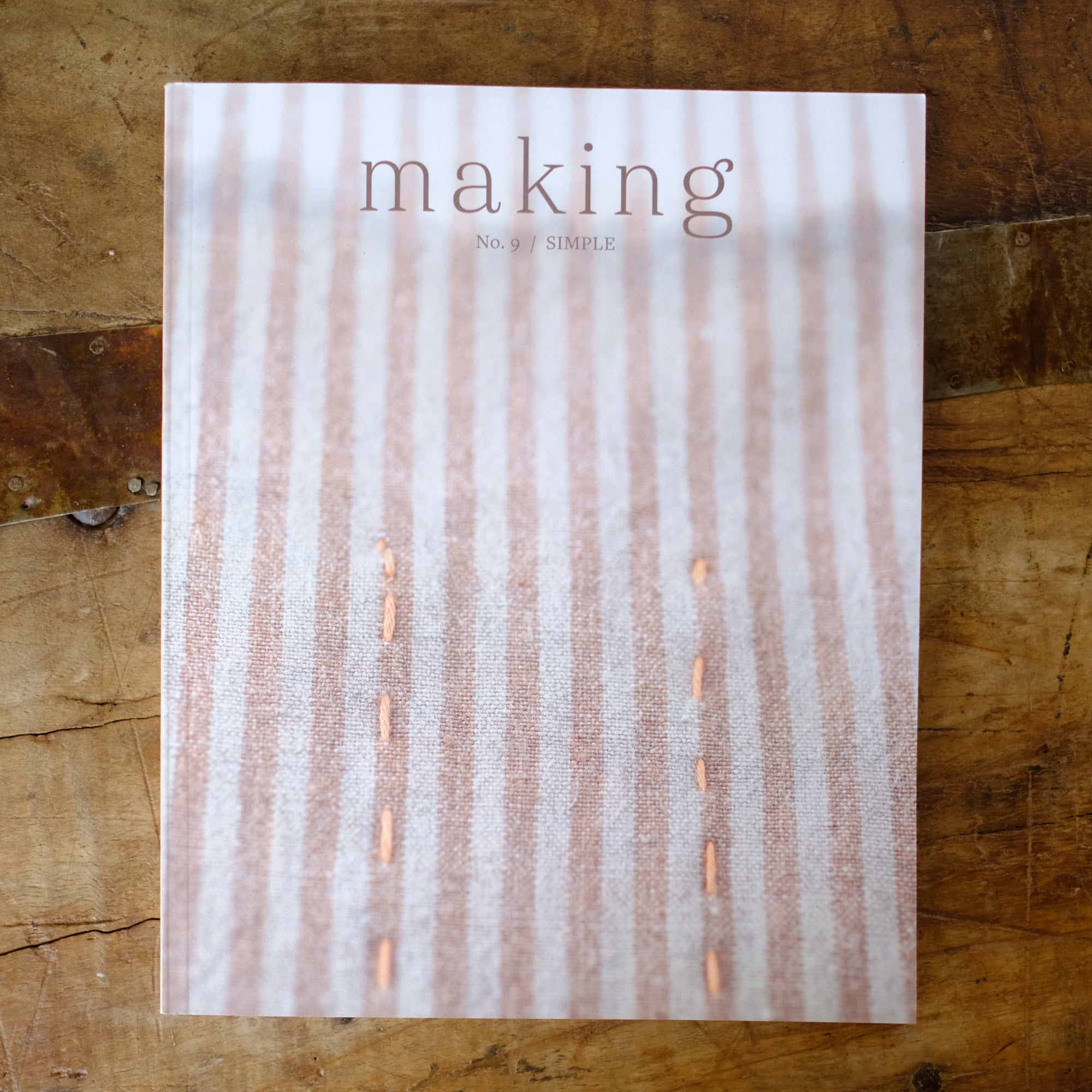 Making No. 9 / Simple - SOLD OUT
