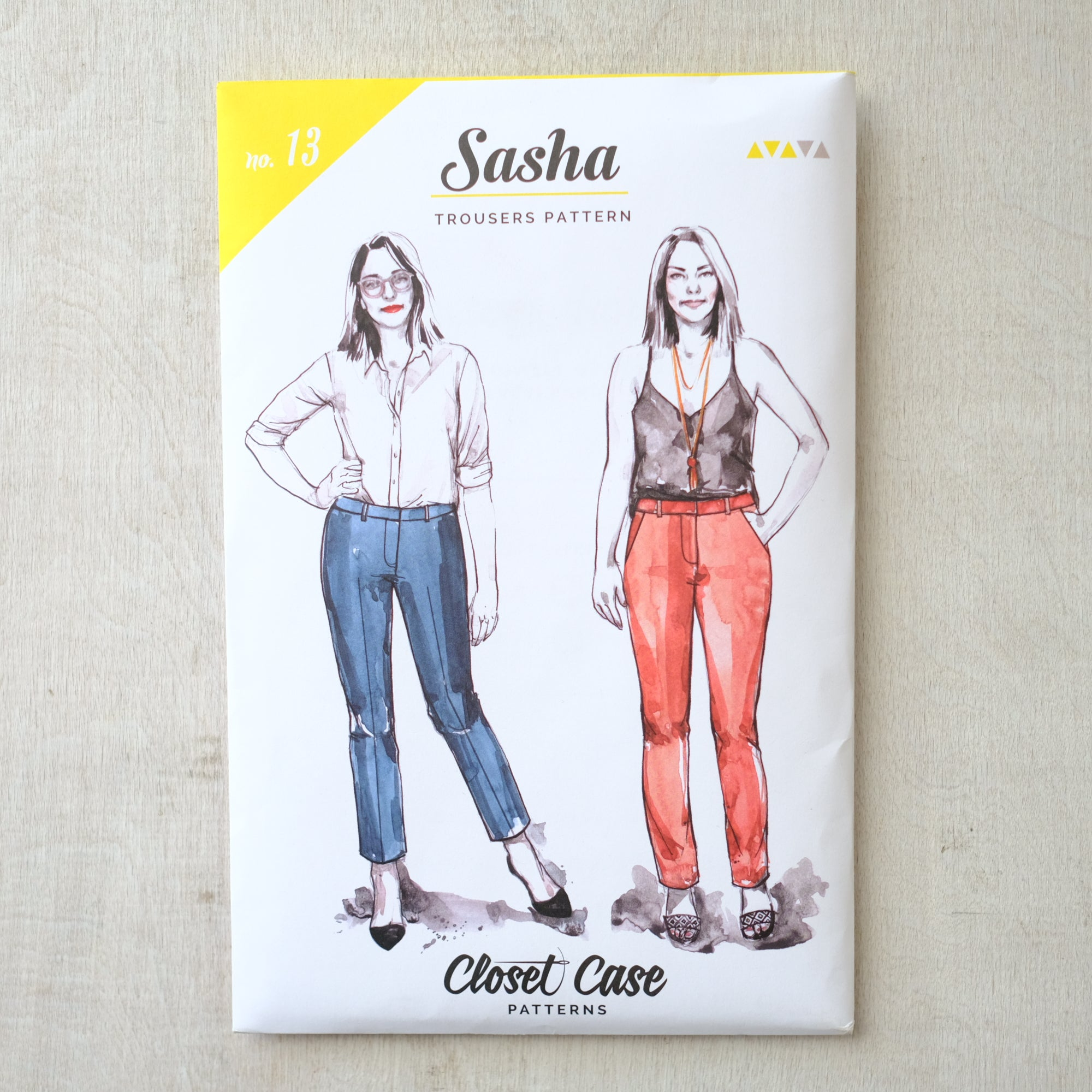 Closet Case Patterns - Sasha Trousers Pattern - PRINTED