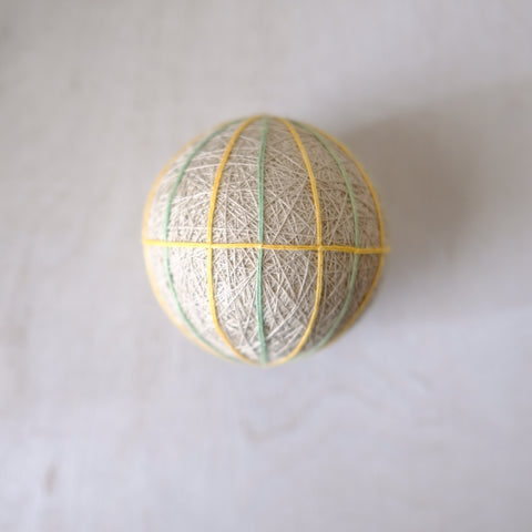 Label: Taupe Blue Yellow Ball
