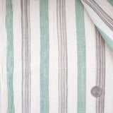 Label: Thick Stripe - Solid Green and Variegated Black