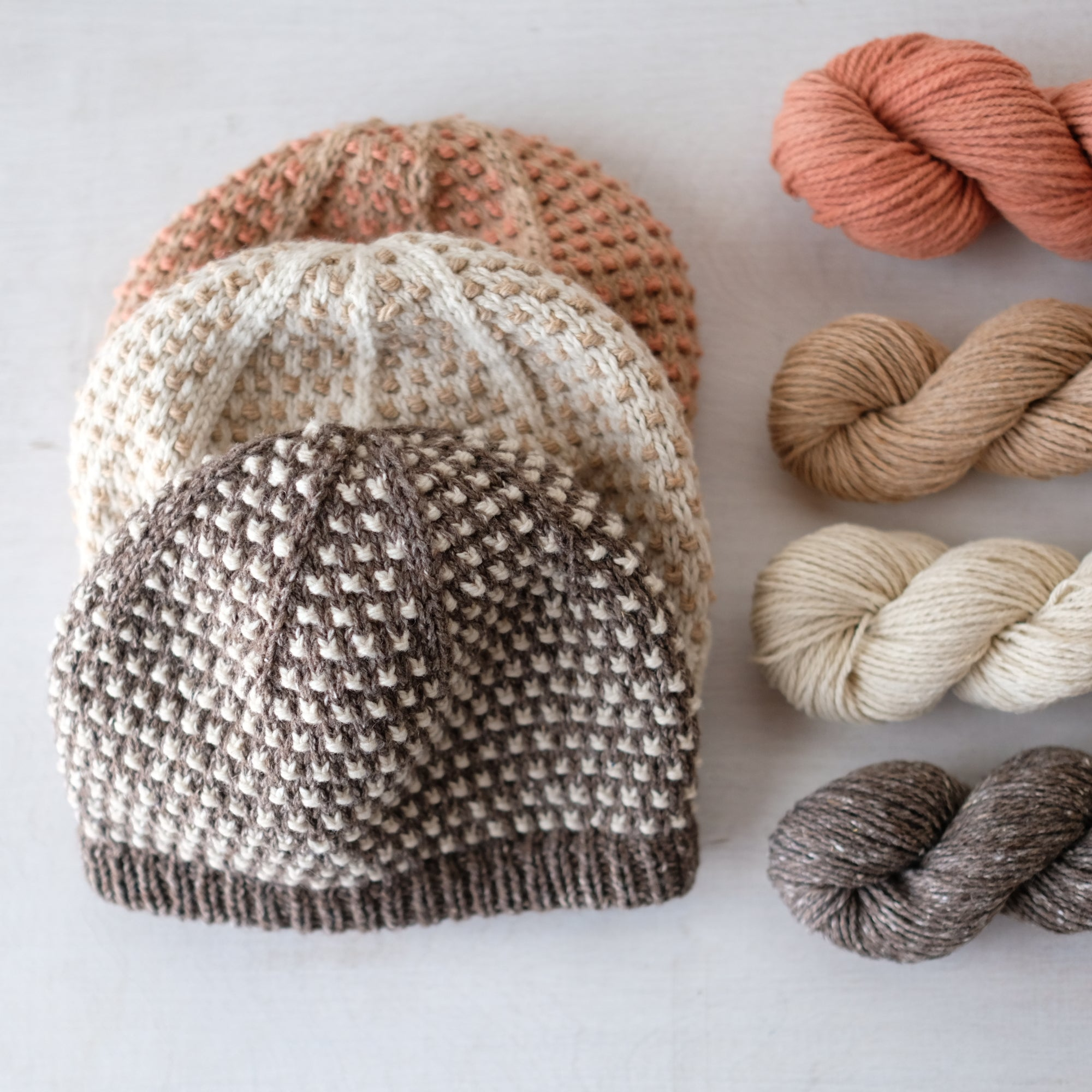 Bonbon Hat Kit - Undyed colors available