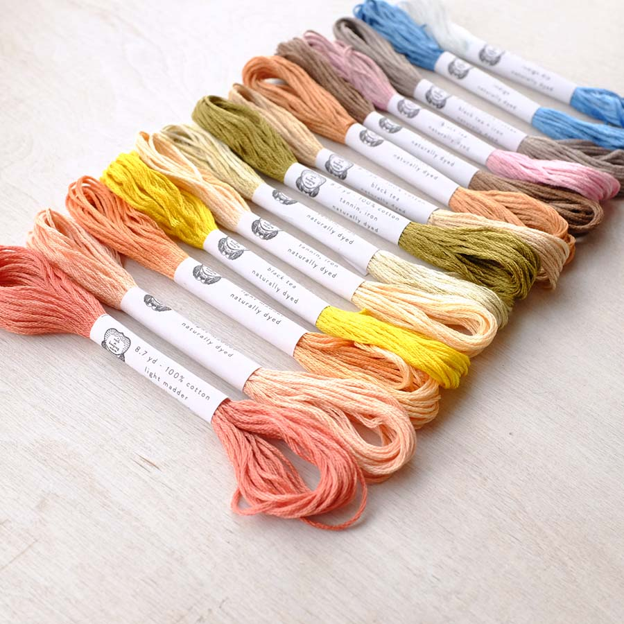 Naturally Dyed Embroidery Floss by AVFKW - NEW!