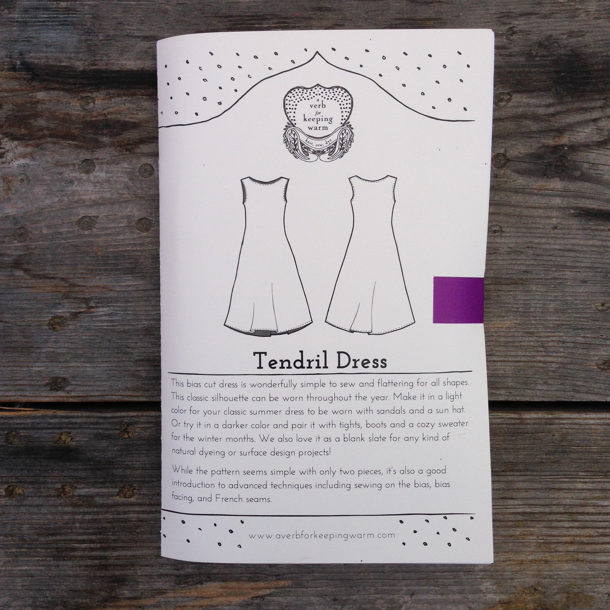 The Tendril Dress Pattern - PRINTED