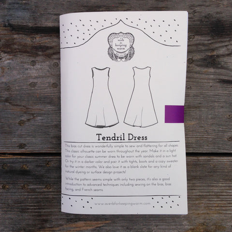 AVFKW - The Tendril Dress Pattern - PRINTED