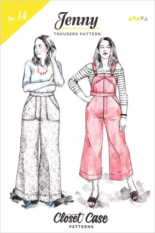 Closet Case Patterns - Jenny Trouser + Overalls Pattern - PRINTED - SOLD OUT