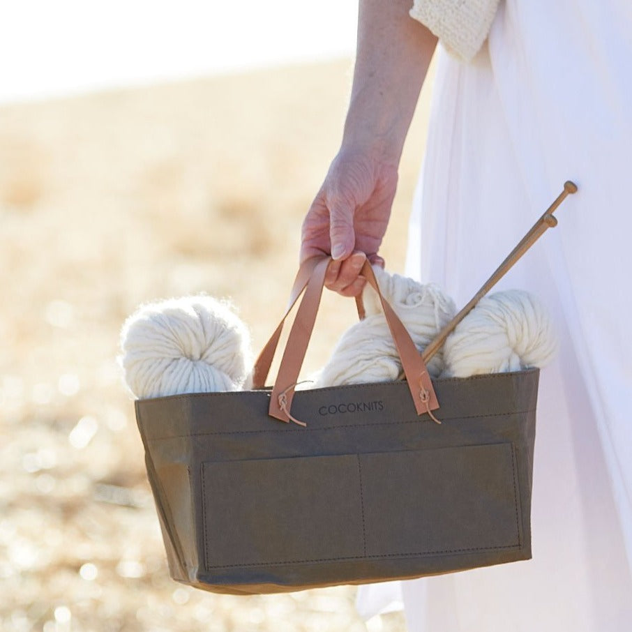 Cocoknits - Kraft Caddy + Leather Handle Kit Short