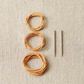 Cocoknits Leather Cord + Needle Stitch Holder Kit - Just restocked!