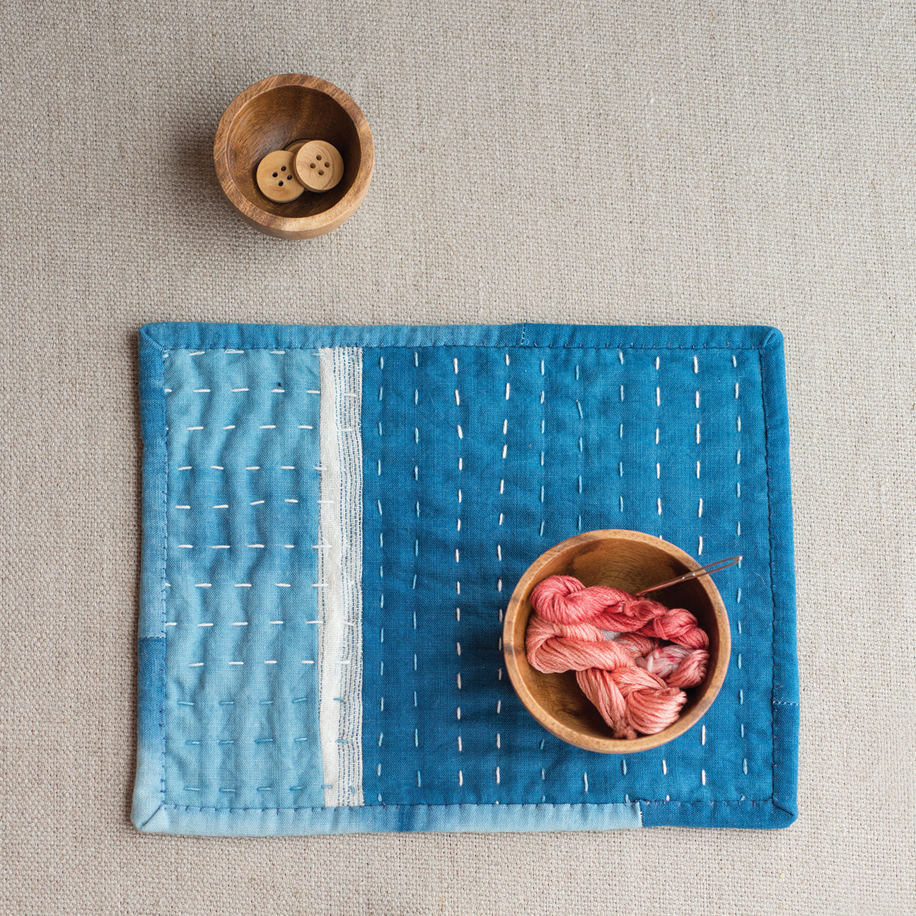 AVFKW x Making Mazgaine - The Little Indigo Quilt Kit