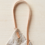 Cocoknits Rustic Linen Four Corner Bag + Leather Handles