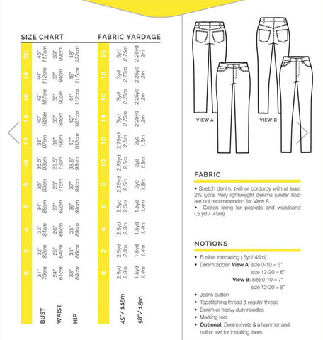 343afc1258 ... Ginger Skinny Jeans Pattern from Closet Case Patterns - PRINTED ...