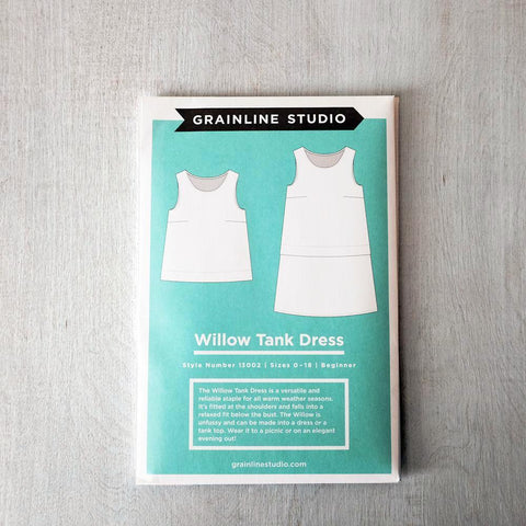 Willow Tank Dress Pattern from Grainline Studio - PRINTED