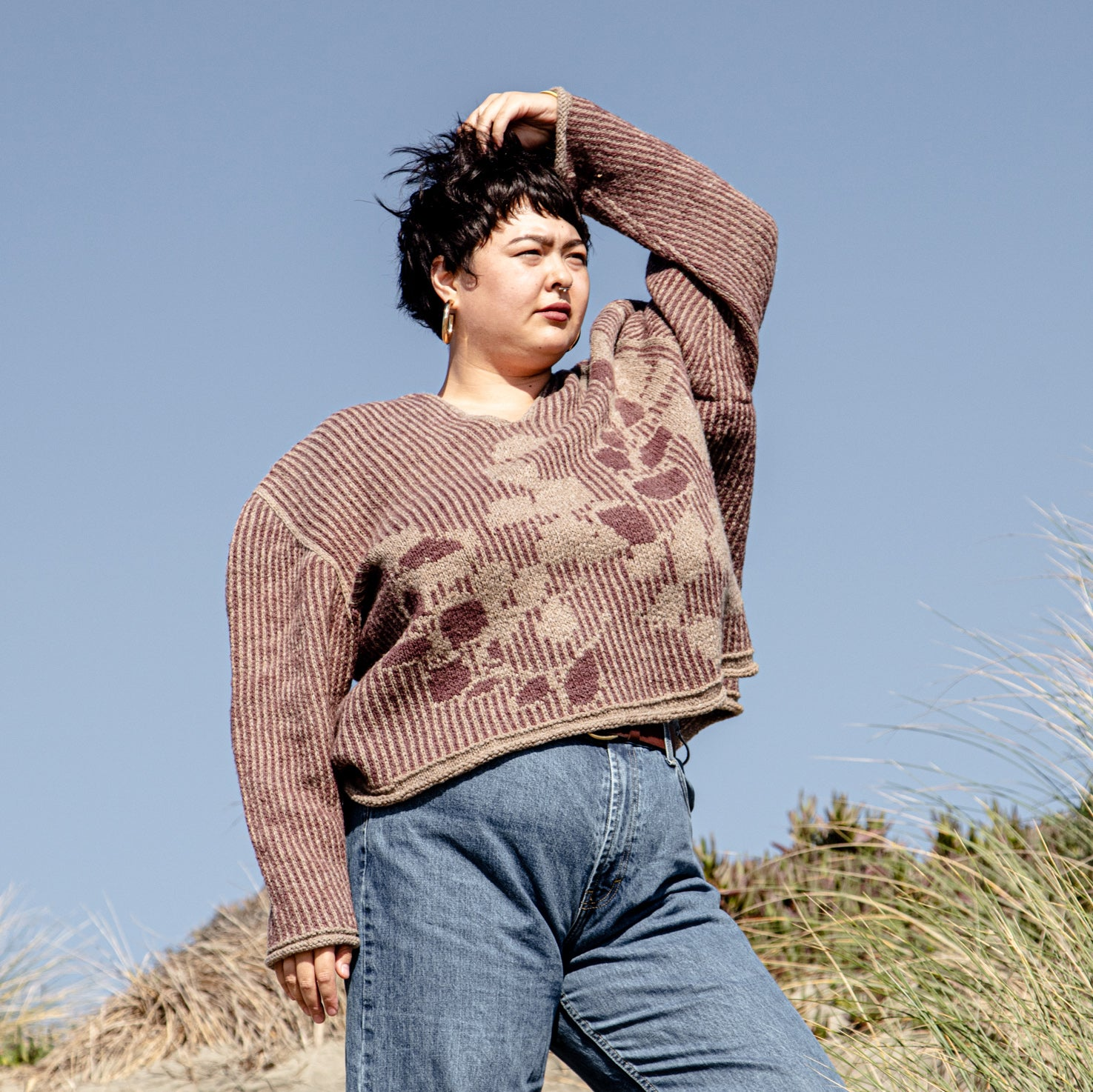 AVFKW x Junko Okamoto - The Eucalyptus Sweater Kit - FALL 2019 LOOKBOOK - Natural colors available!