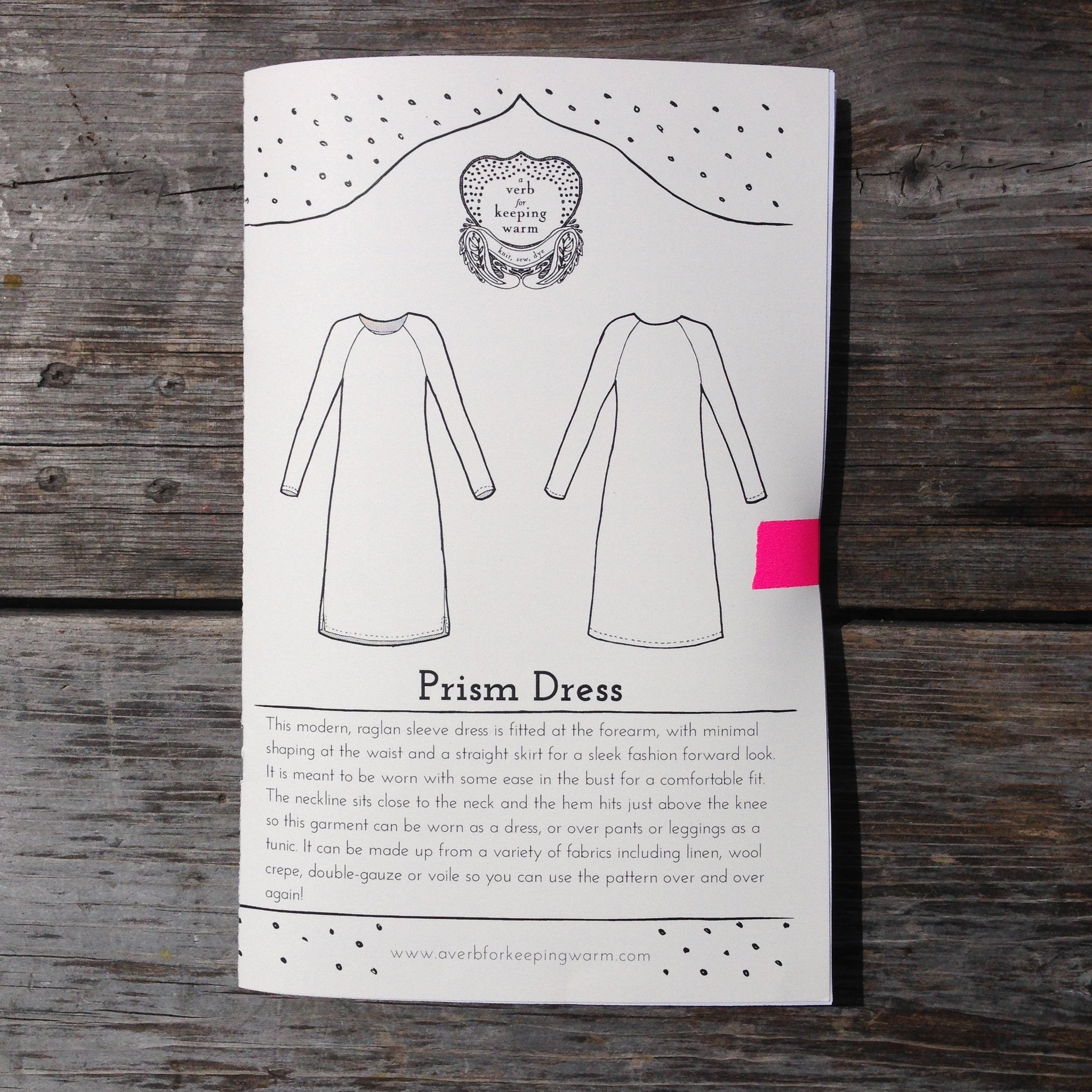 The Prism Dress Pattern - PRINTED