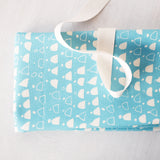 Label: Fabric Only Kit - Light Blue Rain Walk