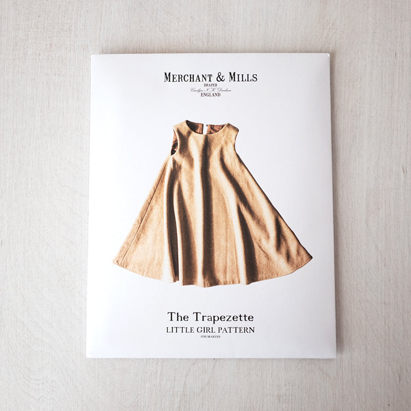 Merchant and Mills - Toddler + Little Girl Trapezette Dress Pattern - PRINTED