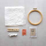 AVFKW x Making Magazine - Winter's Sunset Naturally-Dyed and Embroidered Silk Handkerchief Kit - New!