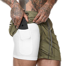 Load image into Gallery viewer, Men's 2 in 1 New Summer Secure Pocket Shorts - Kikiboom online store