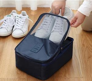 Travel Shoe Bags, Foldable Waterproof Shoe Pouches Organizer-Holds 3 Pair of Shoes - Kikiboom online store