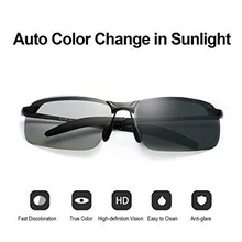 Load image into Gallery viewer, Smart Photochromic Polarized Sunglasses 100% UV Protection, Anti Glare, Reduce Eye Fatigue