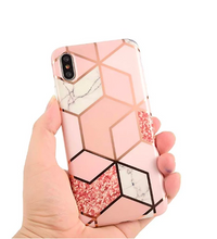 Load image into Gallery viewer, (More Cheaper Than Other Store !!! )Geometric Silicon iPhone Case