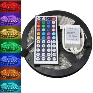 COLOR CHANGING LED LIGHT STRIPS WITH REMOTE CONTROL BY KIKIBOOM - MORE CHEAPER THAN HUJUFY