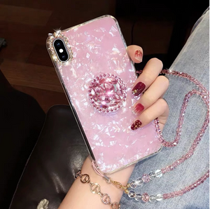 Luxury Diamond Drill Ring Iphone Case - Kikiboom online store