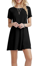 Load image into Gallery viewer, (MORE CHEAPER THAN OTHER STORE !!!)Women's Summer Casual T Shirt Dresses Short Sleeve Swing Dress with Pockets