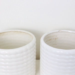 Vintage Cream Pots- Set of 2