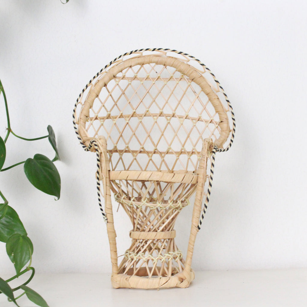 Wicker Decorative Peacock Chair