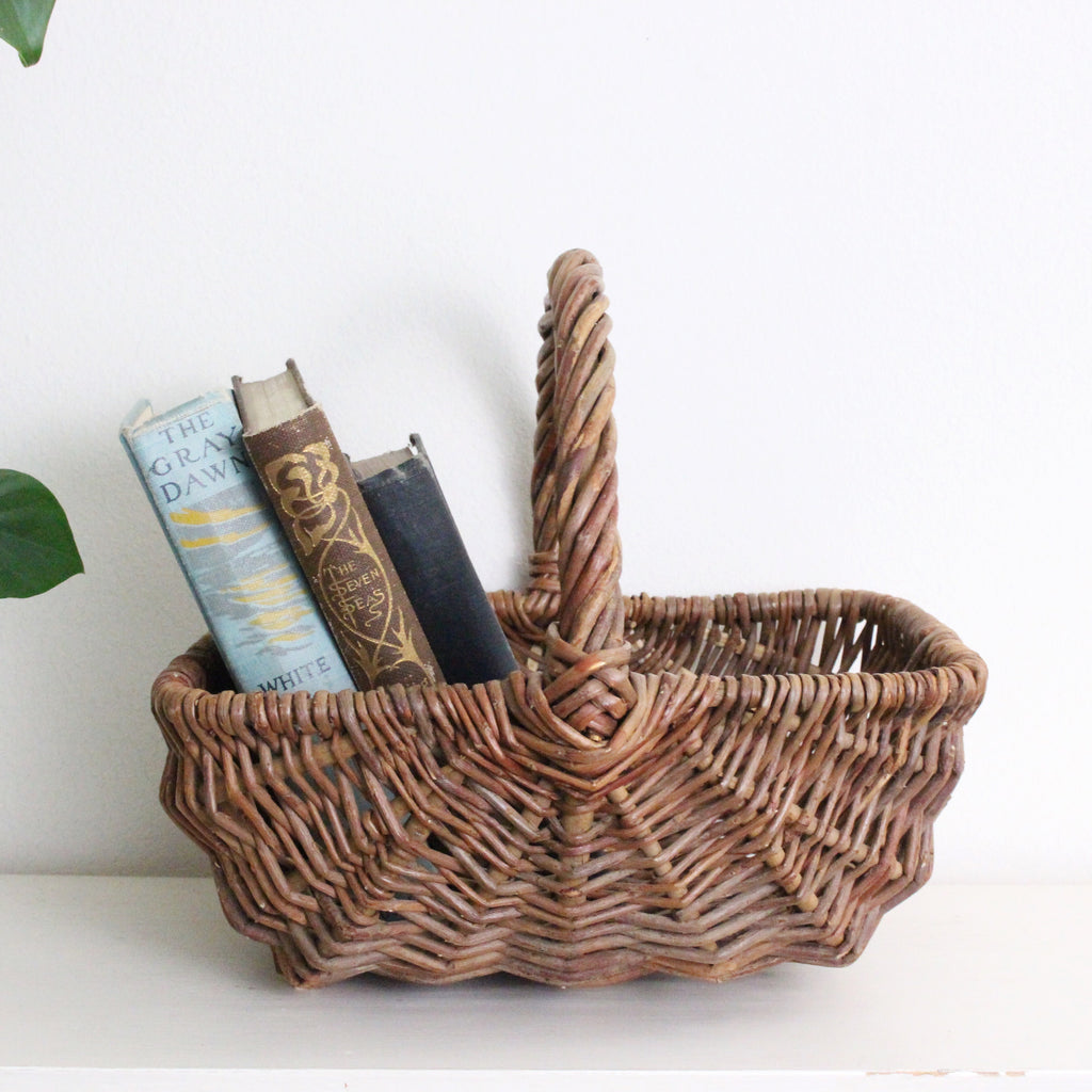 Natural Woven Gathering Basket