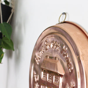 'Home Sweet Home' Copper Wall Plate
