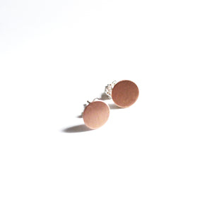 Round Copper Post Earrings