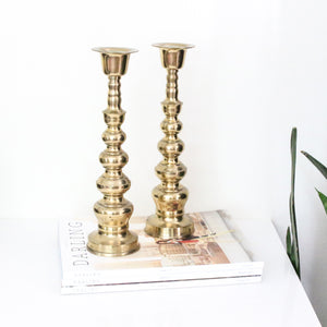 Brass Vintage Candle Holders- Set of 2
