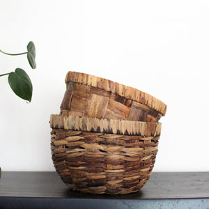 Natural woven baskets- set of 2