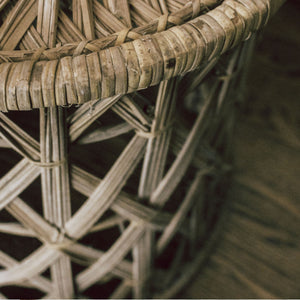 Woven Wicker Plant Stand
