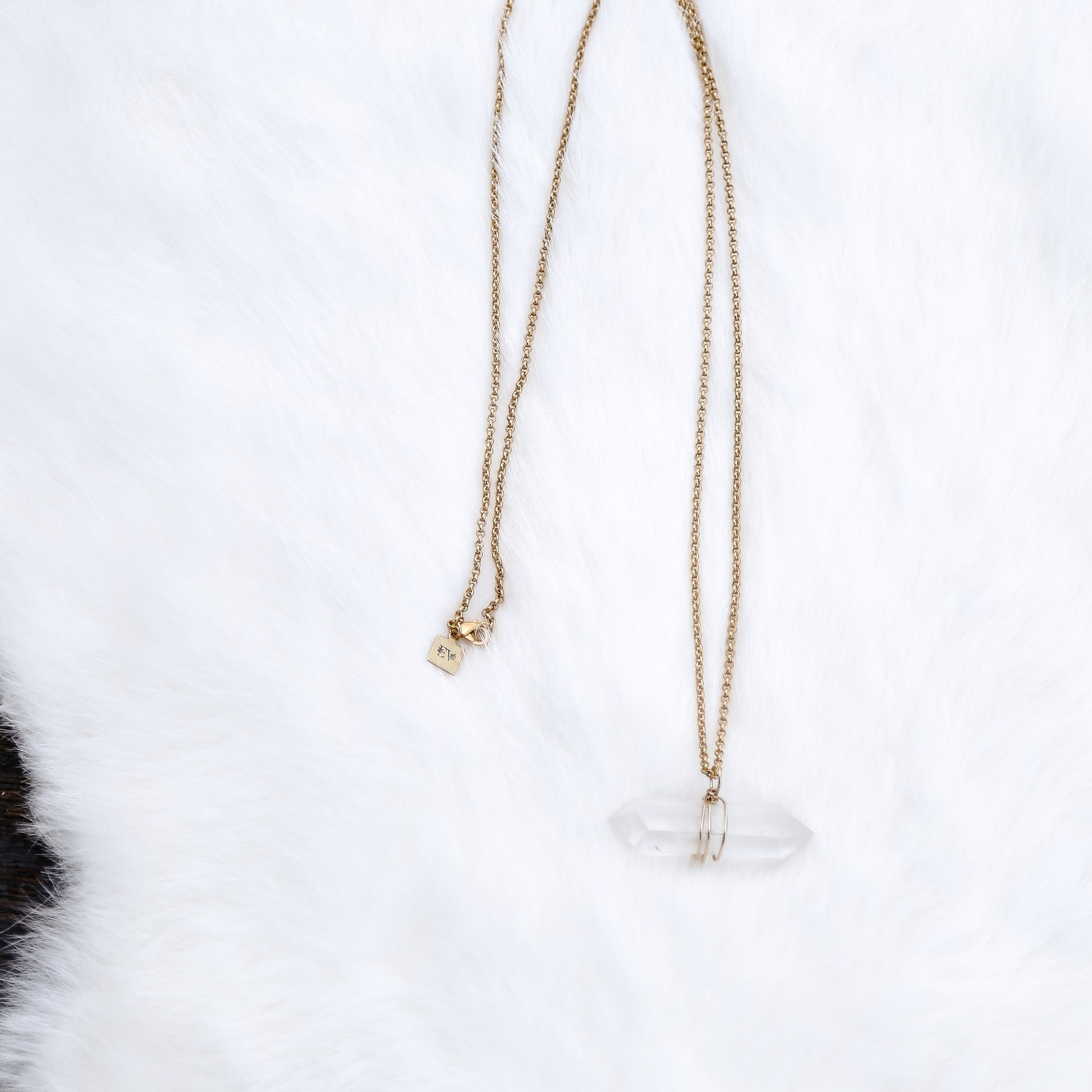 Cloudy Crystal Quartz Necklace