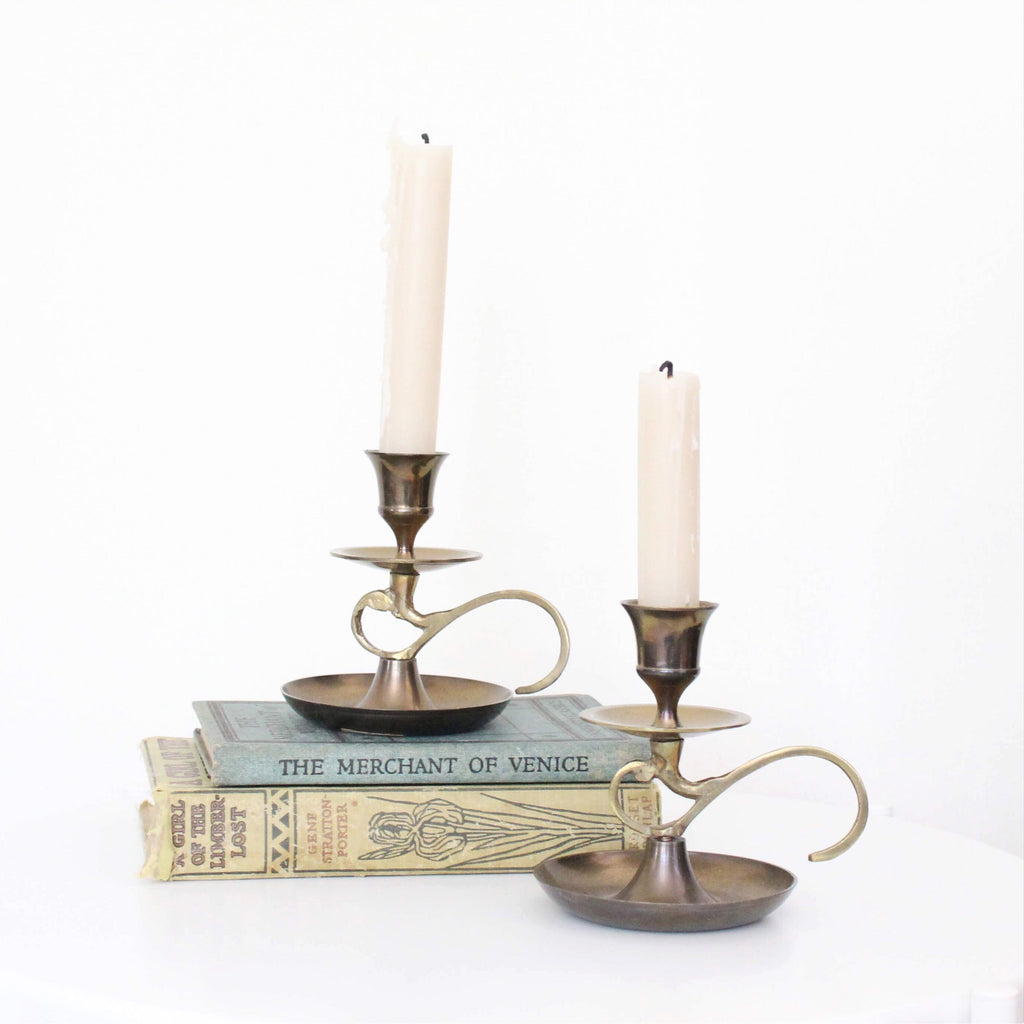Brass Candle Holders- Set of 2