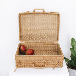 Rectangle Wicker Picnic Basket