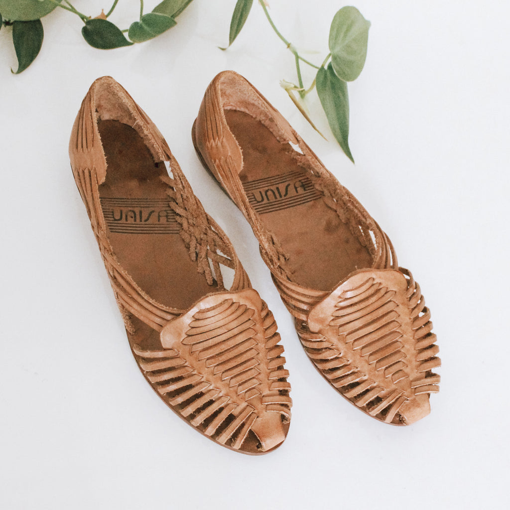 Leather Unisa Huarache slip-ons