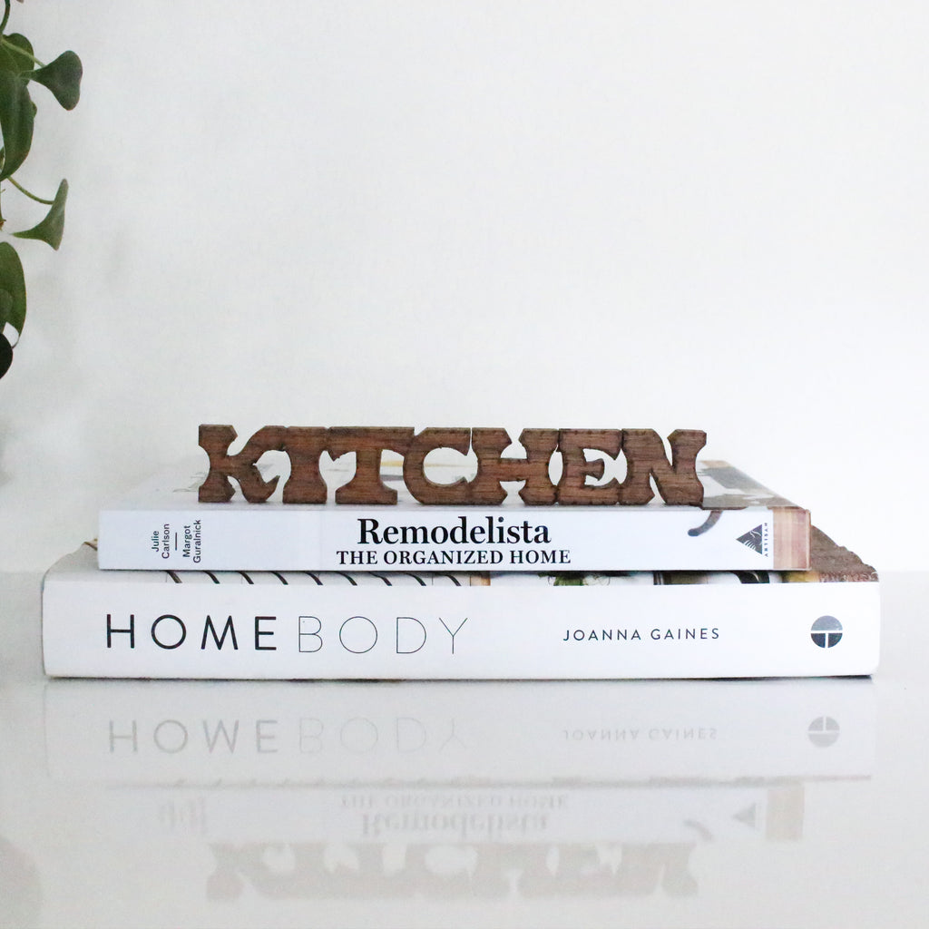 Mini Wooden Carved 'Kitchen' Sign