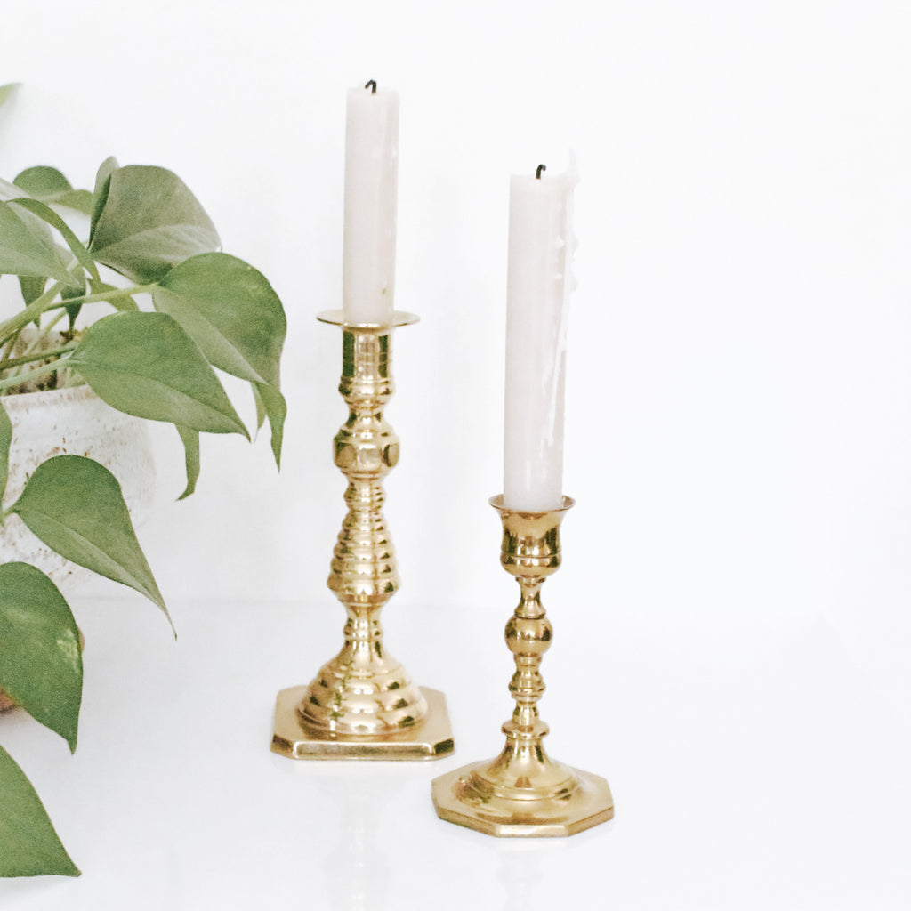 Bright Brass Candlesticks- 2