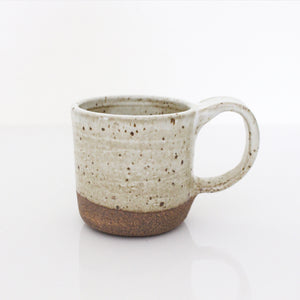 Handcrafted White Speckled Mug