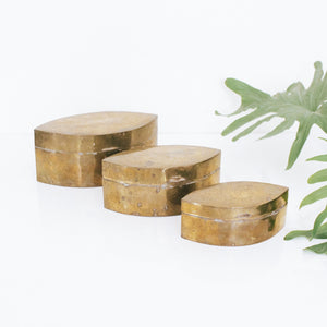 Vintage Brass Nesting Boxes- Set of 3