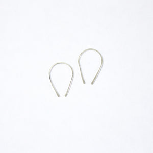 Nomad Hoop Earrings- Silver