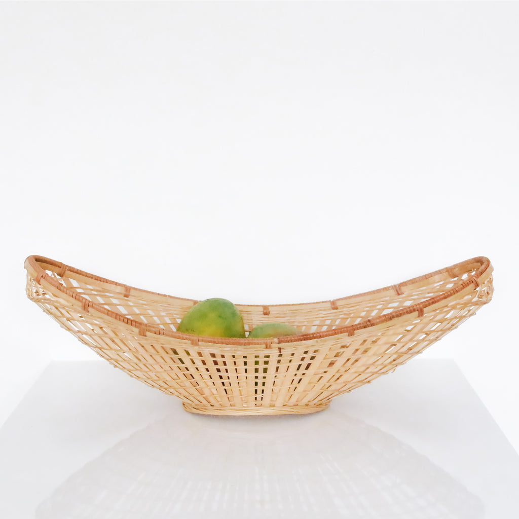 Long Light Wicker Basket