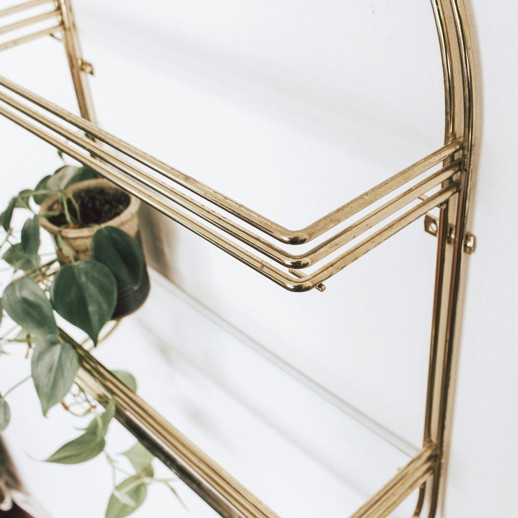 Brass Art Deco Shelf