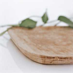 Square Wooden Statement Tray