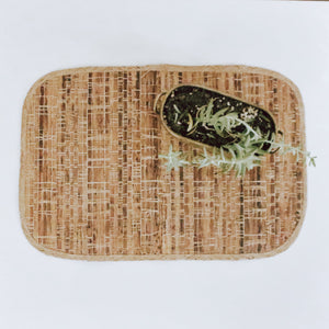 Natural Woven Abaca statement place mat