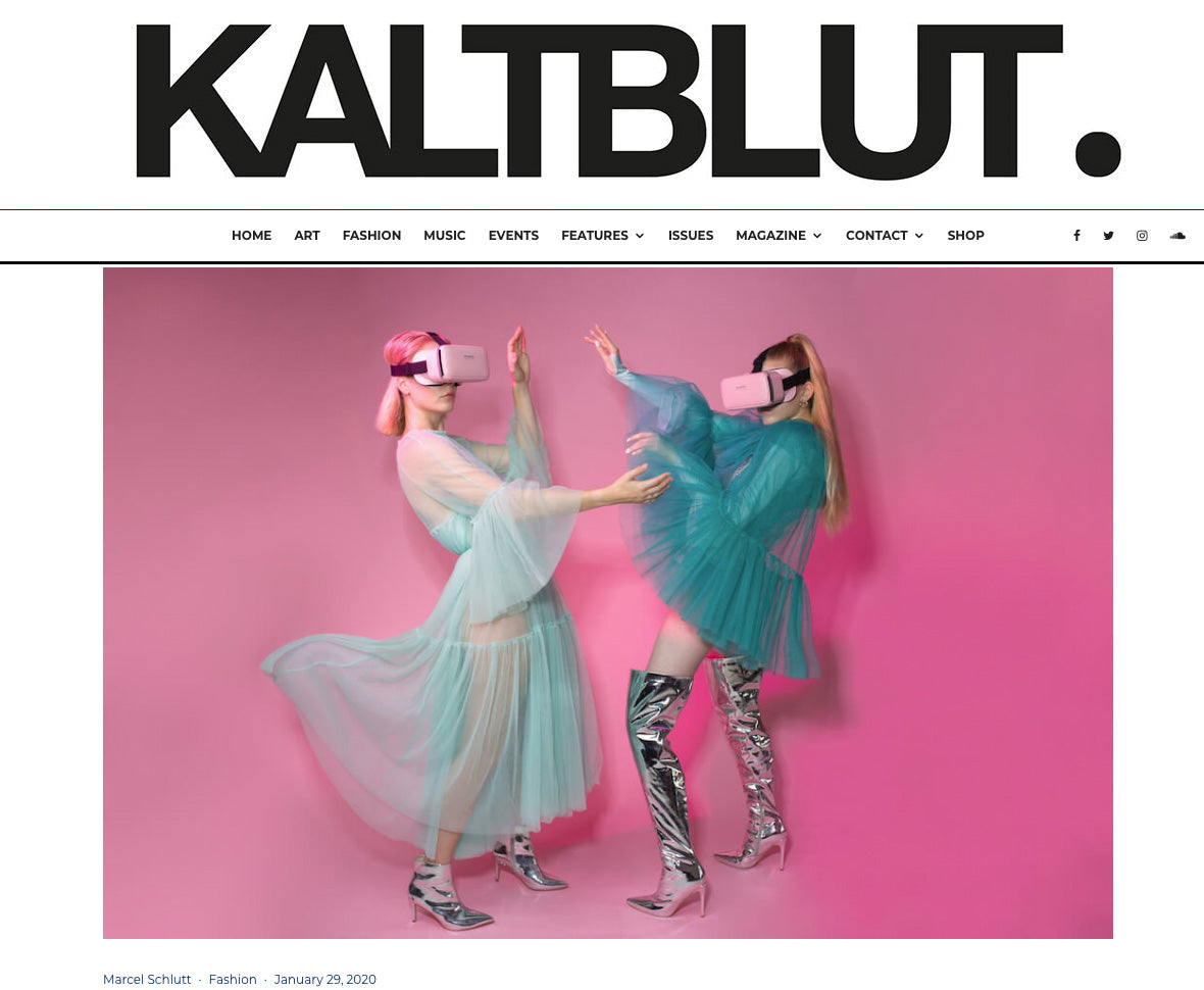 Kaltblut magazines editorial featuring BONDY dresses